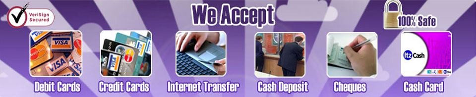 Payment Options at Inway Hosting